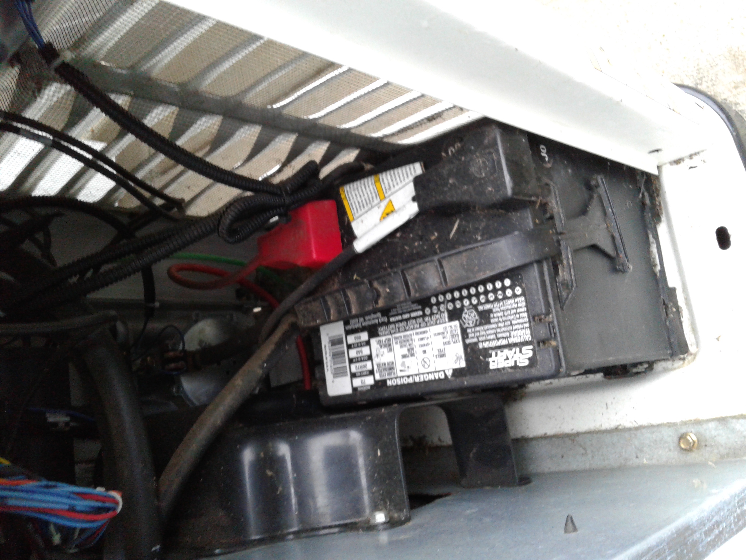 The generator battery needs to be inspected and cleaned